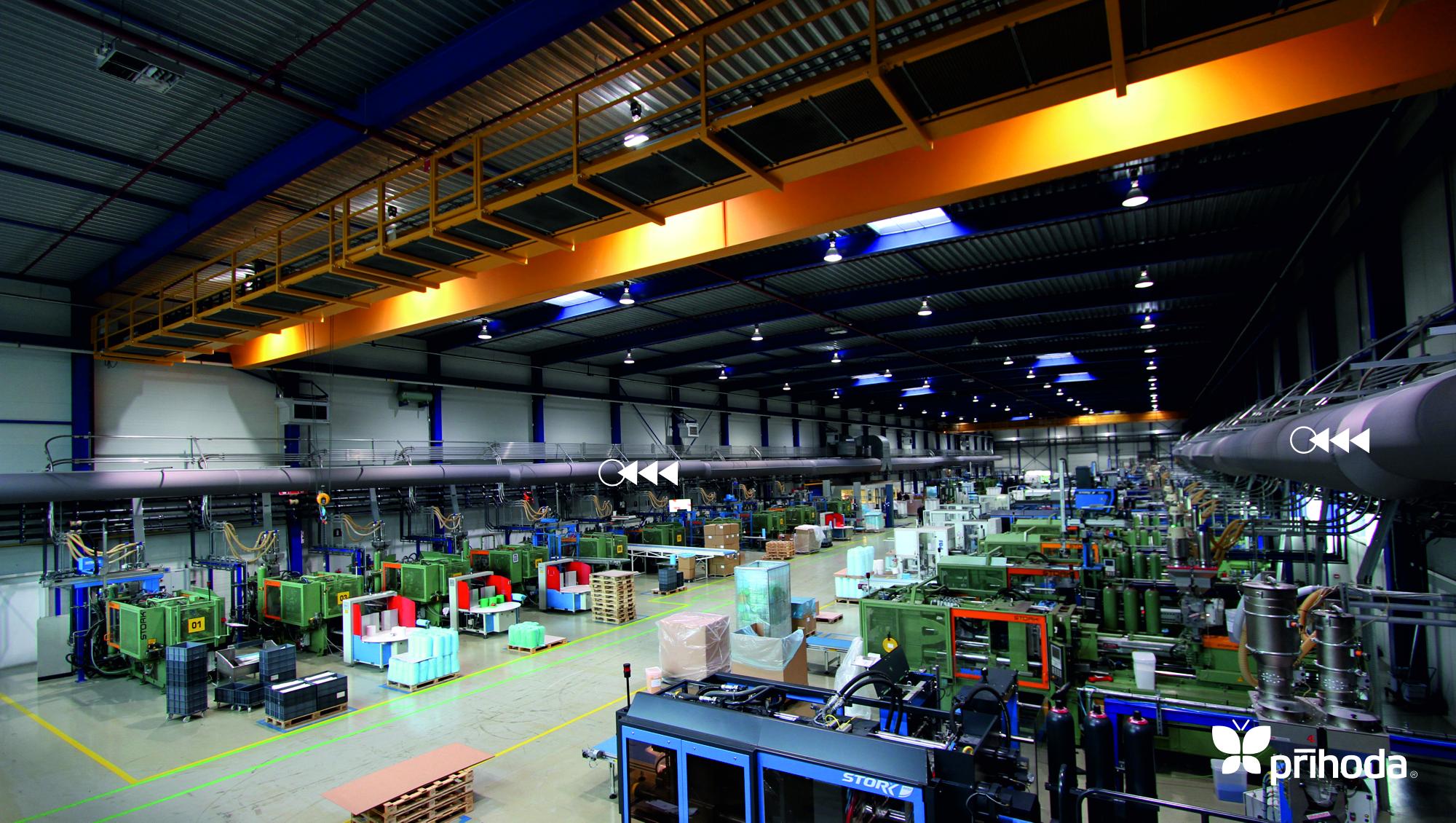 fabrikalarda kumaş kanal ile havalandırma