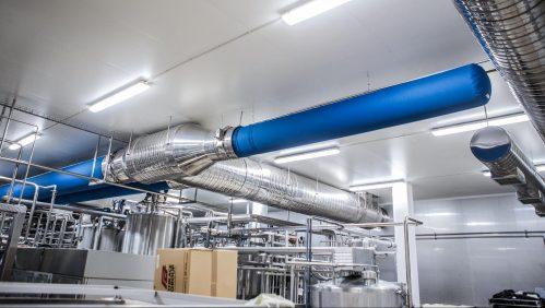 süt ürünleri tesisleri kumaş kanal ile havalandırma