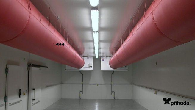 kumaş kanal doğuk oda uygulama