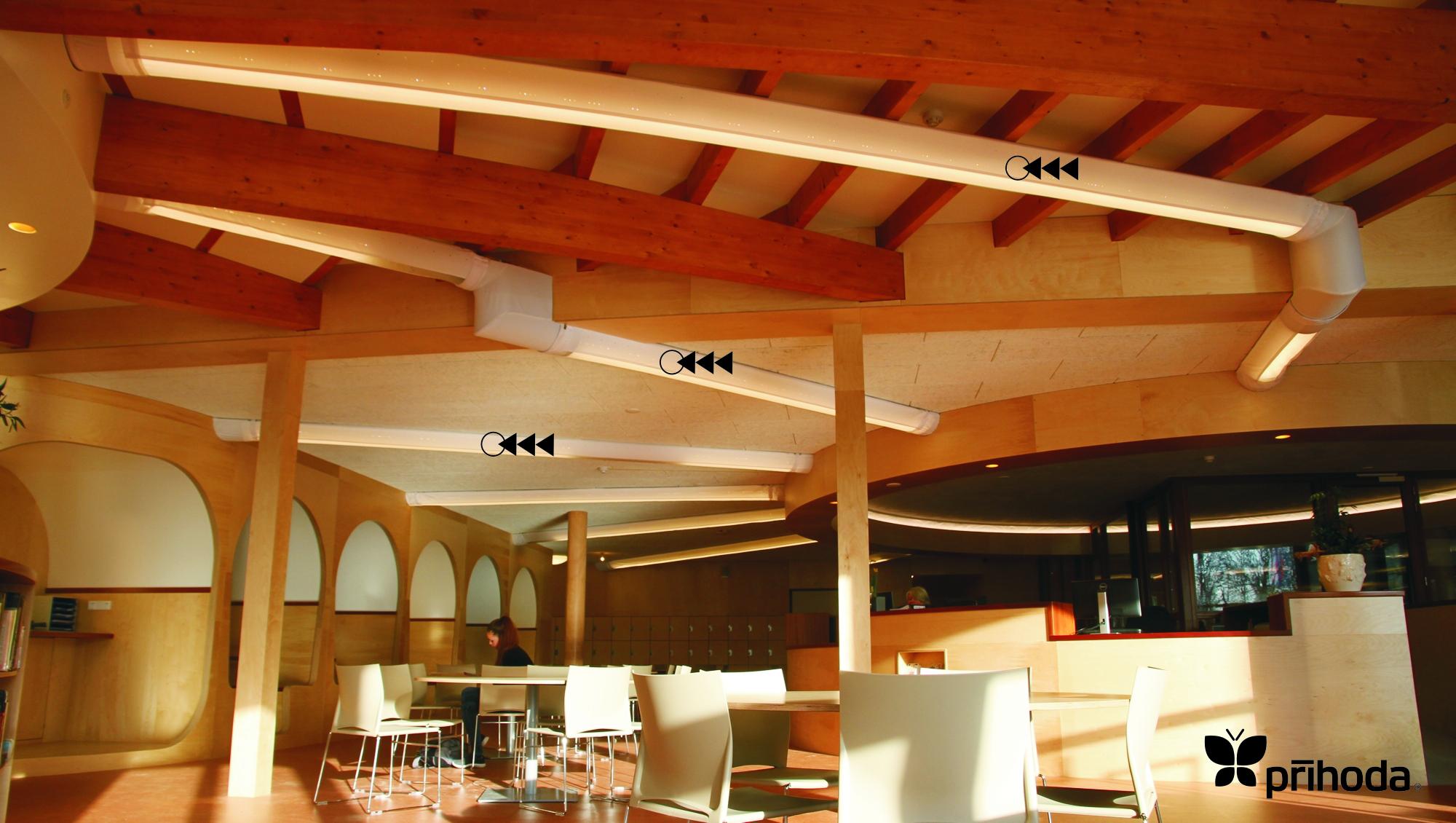 kumaş kanal aydınlatma kütüphane