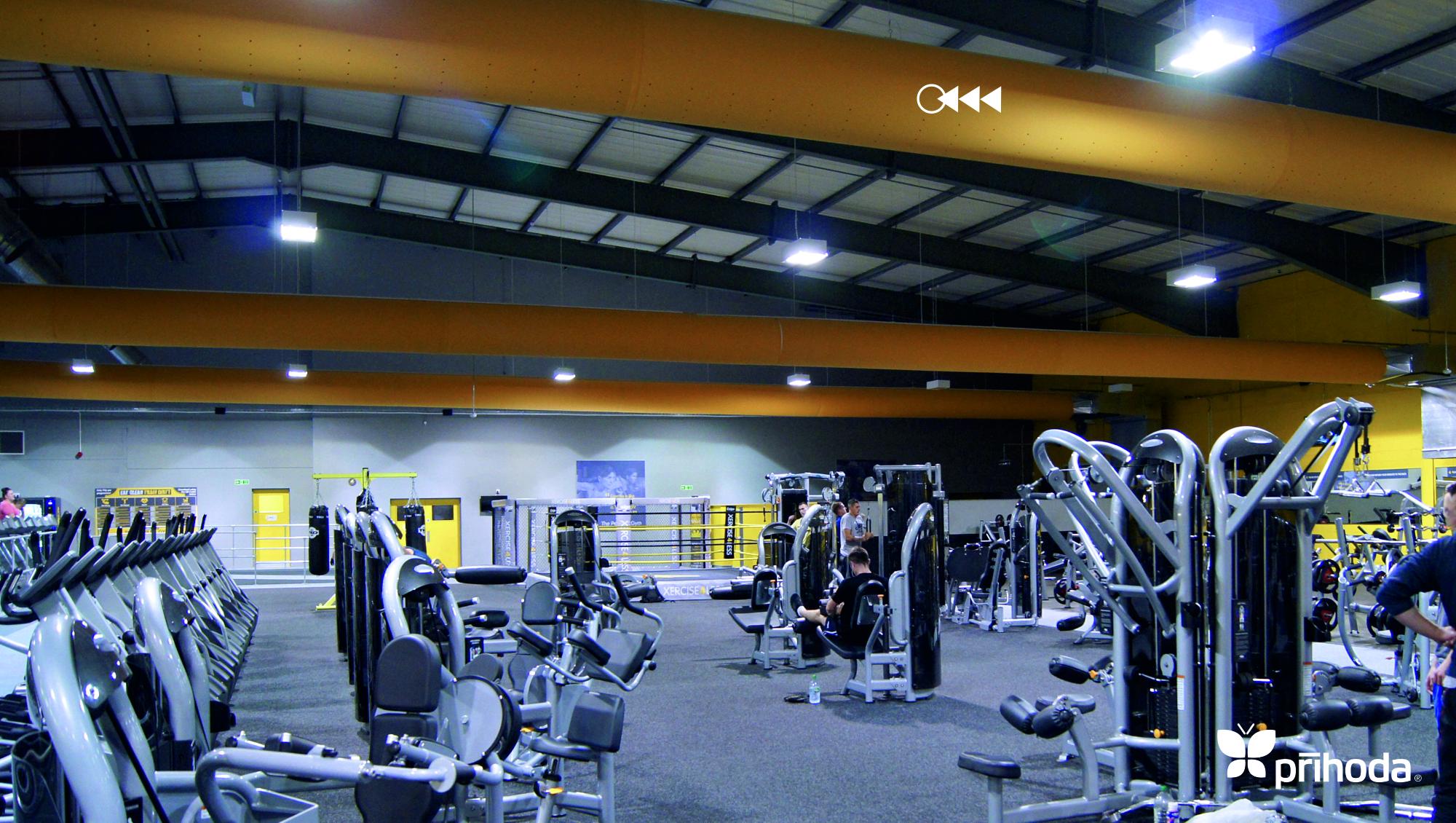 kumaş kanal spor salonu havalandırma sistemi