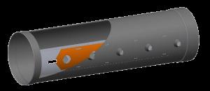kumaş kanal perforasyon hattı kapatma